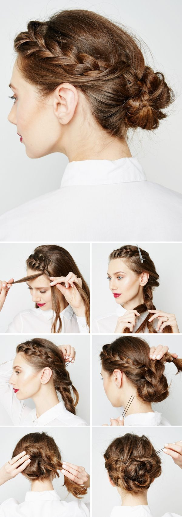 Braided Chignon | Keep the style in place with large pins and lots of hairspray.