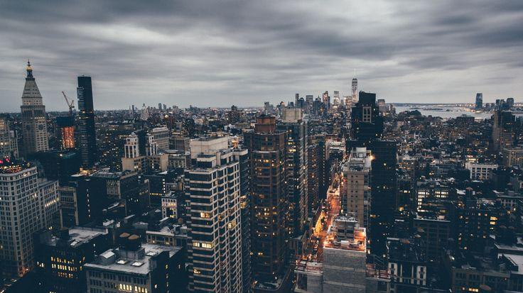 Скачать обои соединенные штаты, нью-йорк, раздел город в разрешении 1366x768