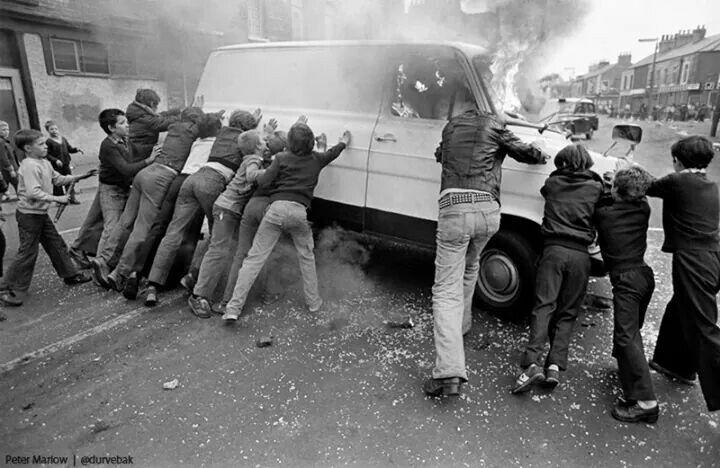 1979 Kuzey Irlanda Sokak çatışmaları ve çocuklar