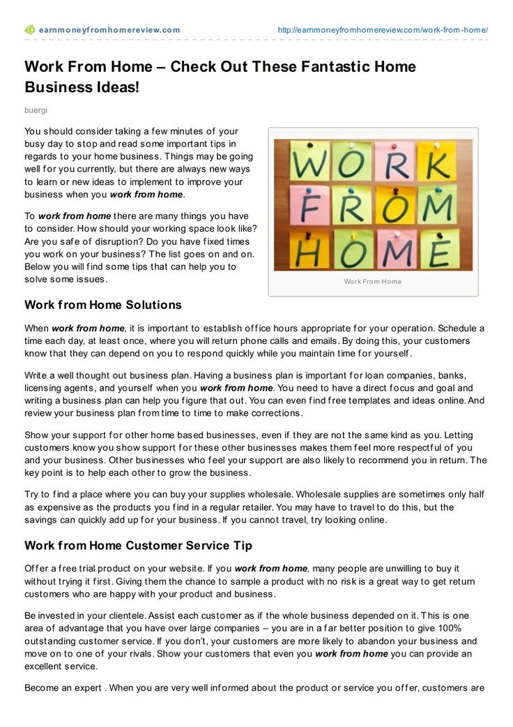 work-from-home-with-these-great-ideas by Bruno Bürgi via Slideshare