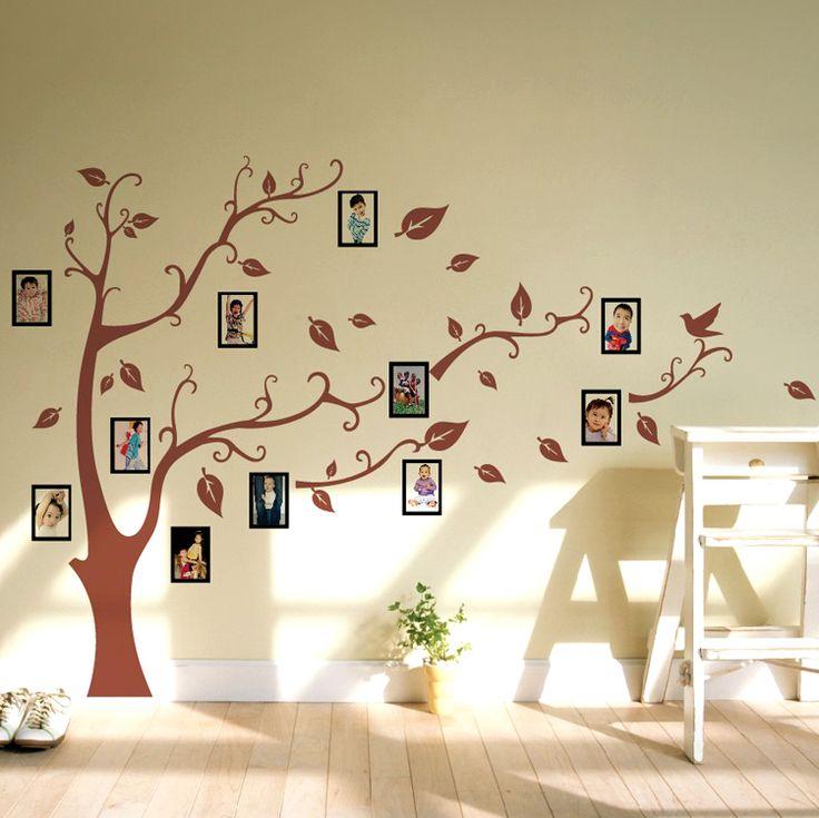 Naina Lun muurstickers woonkamer sofa achtergrond muur stickers aangebracht op de bedrijfscultuur foto foto boom muurstickers