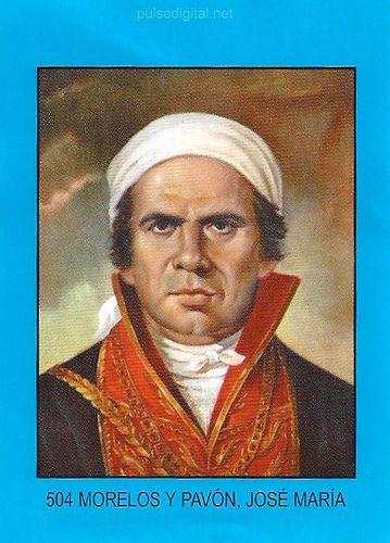 Estampa de Jose María Morelos y Pavón