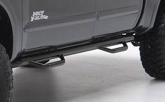 Dodge Ram Accessory - Smittybilt Dodge Ram 3 Black Powdercoat Wheel-to-Wheel Nerf Steps