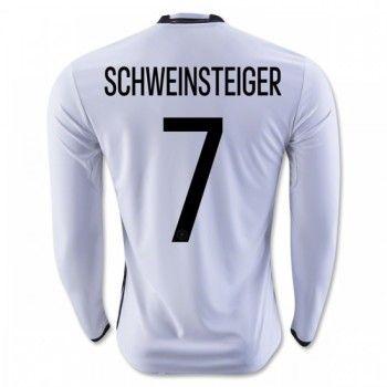 Tyskland 2016 Schweinsteiger 7 Hemmatröja Långärmad   #Billiga  #fotbollströjor