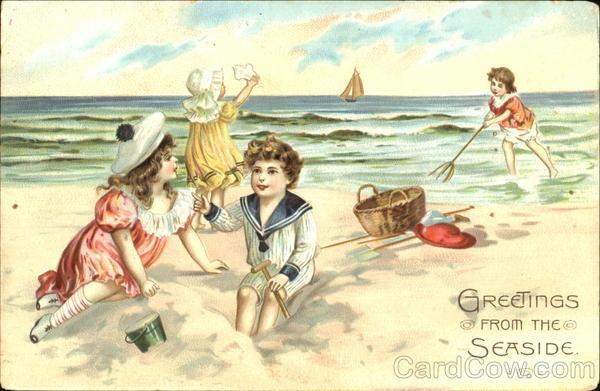 Vintage postcard.   Summer   Pinterest