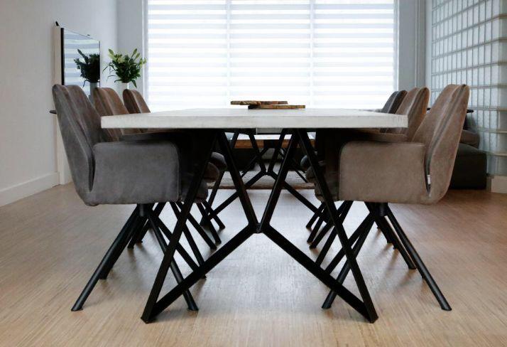 Stalen onderstel tafel laten maken basisvoordelig ikea tafel