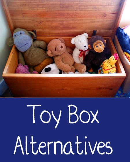 If you have young children, you most likely have toys all over your home.  You can purchase a store bought toy box, however it may not compliment your home's decor.  Here are some alternative options for toy storage instead of a traditional toy box.