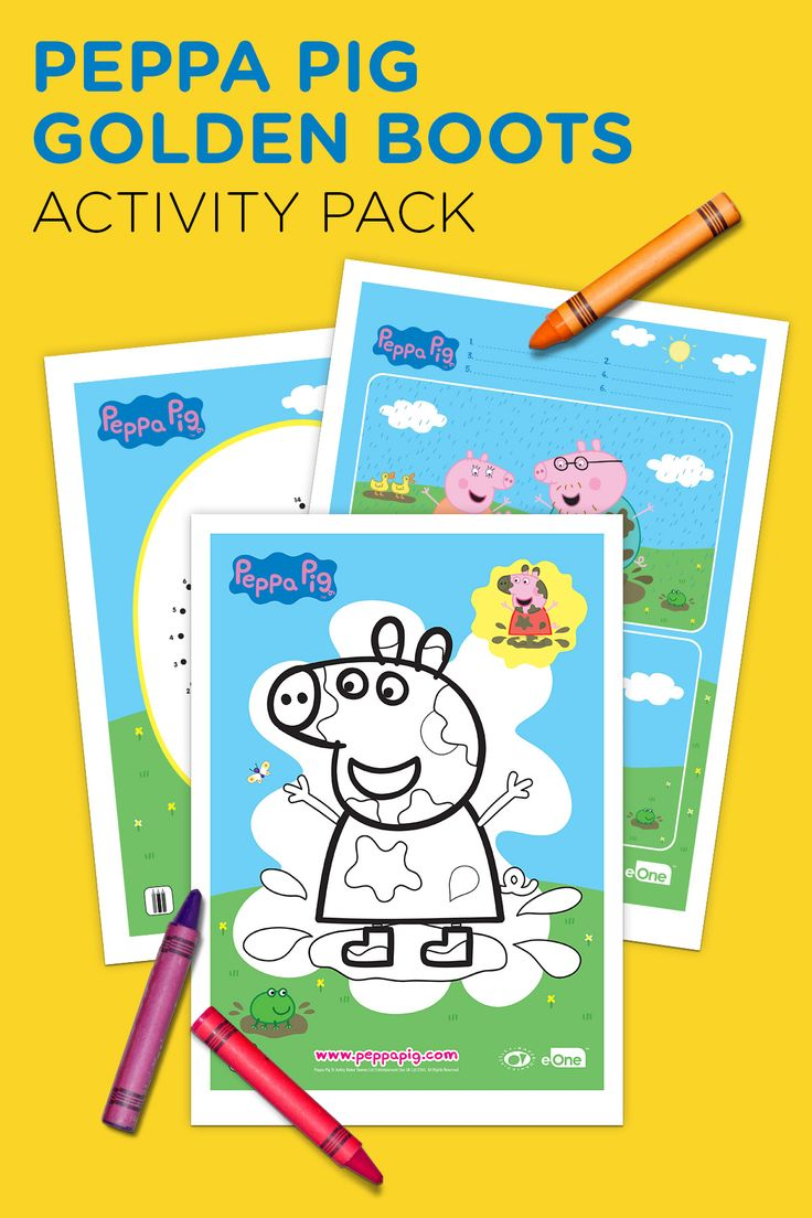 Ni nick jr games and coloring on online - Peppa Pig Golden Boots Activity Pack