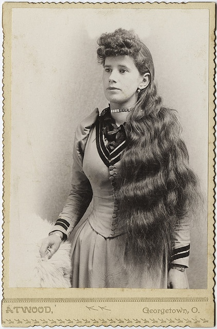 Cabinet Card Portrait Of Long Haired Beauty Inspiration