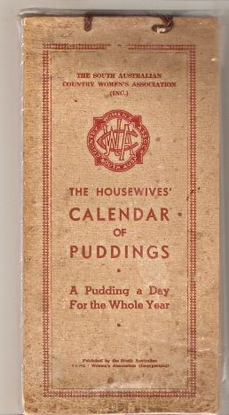 The Housewives' CALENDAR OF PUDDINGS - first edition