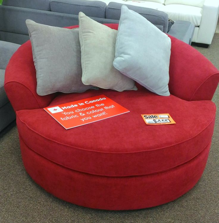 "Just $888. 59"" and spins! Take this one or choose your own colours for the same price :) #bargain #chair #red #snuggles #furniture #home #family"