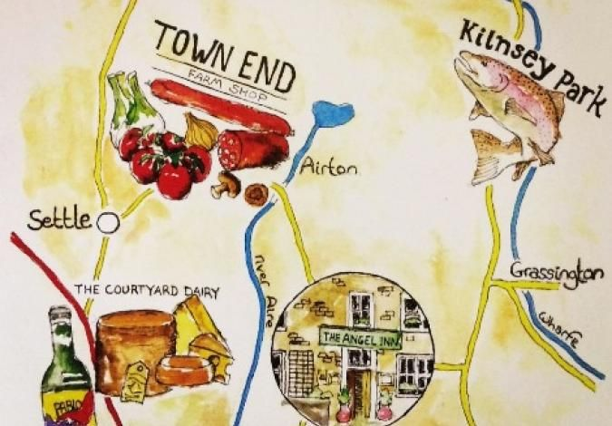 Town End Farm Shop Food Map