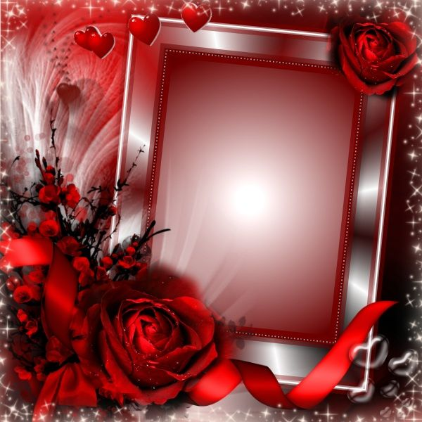 """Red """"Love You"""" frame. Click to put a photo in it."""