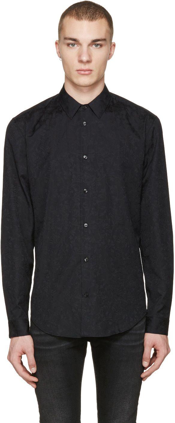 VERSACE Black Jacquard Shirt. #versace #cloth #shirt