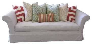 Slipcovered Sofa & Chair eclectic-sofas