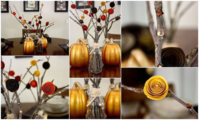 Diy Projects: DIY Easy Fall Centerpieces