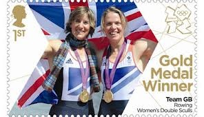 Royal Mail's 'Next Day' Gold medal stamps for Team GB - Katherine Grainger & Anna Watkins #London2012 #Olympicd