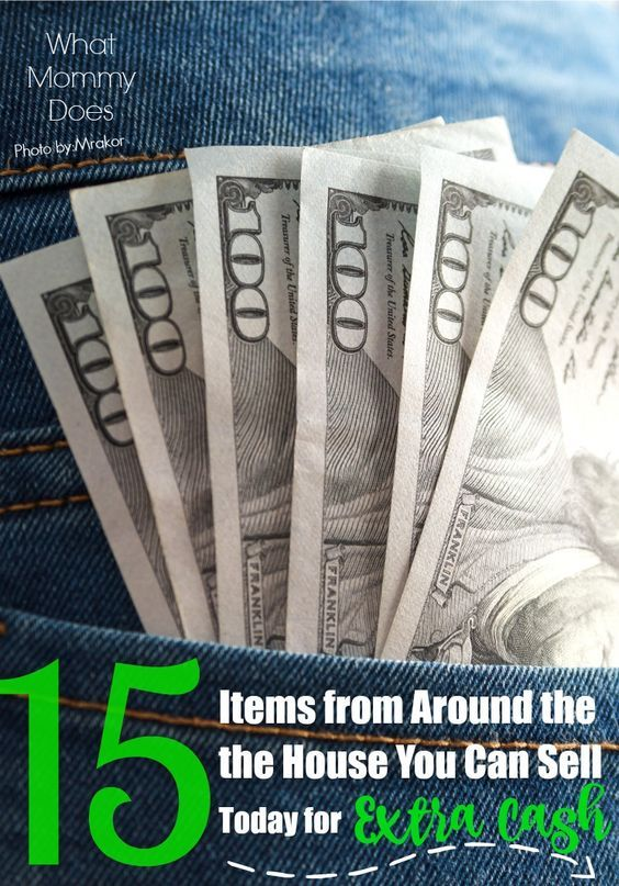 Here's a way to make extra cash on the side from home. Anyone can do it if you have some items around your house you're willing to part with. I've been selling stuff online, on Craigslist, at yard sales most of my life...these are 15 things that ALWAYS sell fast! A great way to get money quickly, even if it's just $25 or $50 cash right now. Part my money making ideas series on WhatMommyDoes.com