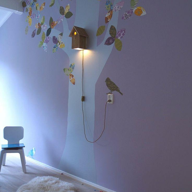 s es vogelhaus licht f rs kinderzimmer kinderzimmer kinderzimmer kinder zimmer und lampe wand. Black Bedroom Furniture Sets. Home Design Ideas