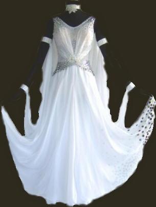 Waltz dresses white long