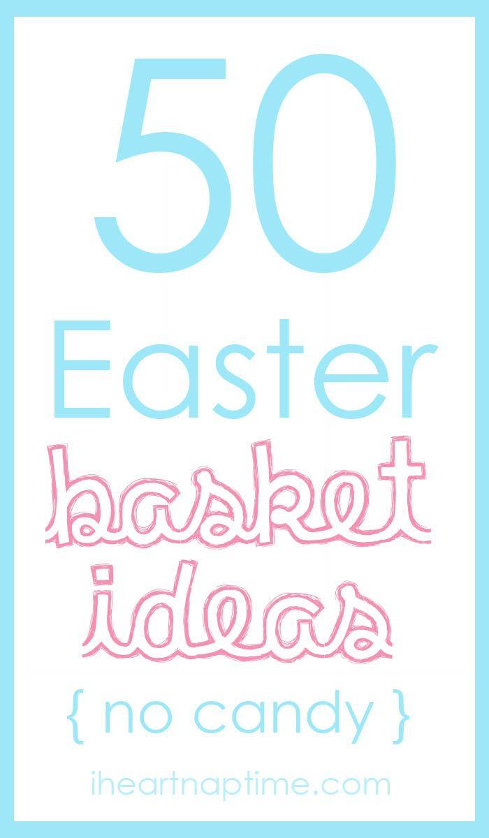 50 Easter basket ideas  iheartnaptime.com  #easter #easterbaskets