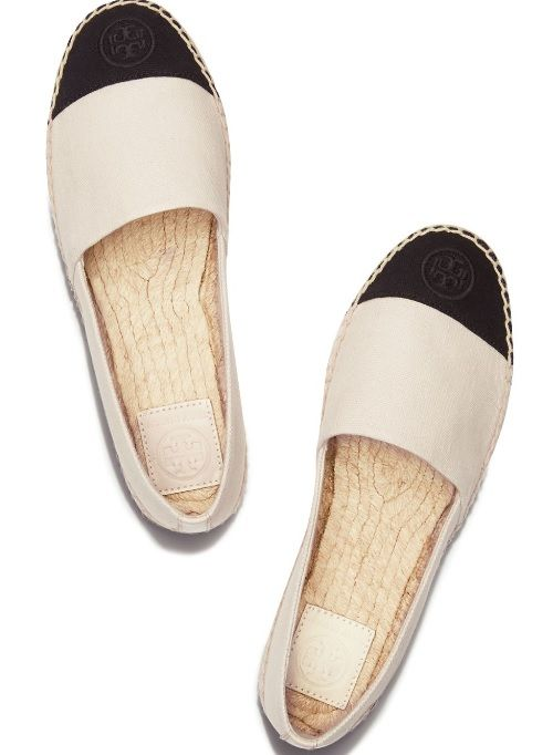 Shop Women's Tory Burch Cream Black size Shoes at a discounted price at  Poshmark. Description: Tory burch dulcet de Leche espadrrilles worn once.