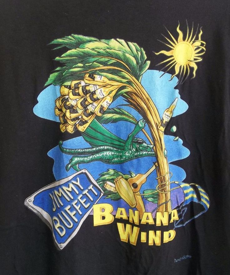 Jimmy Buffett 1996 Banana Wind Tour T-Shirt Adult XL X-Large
