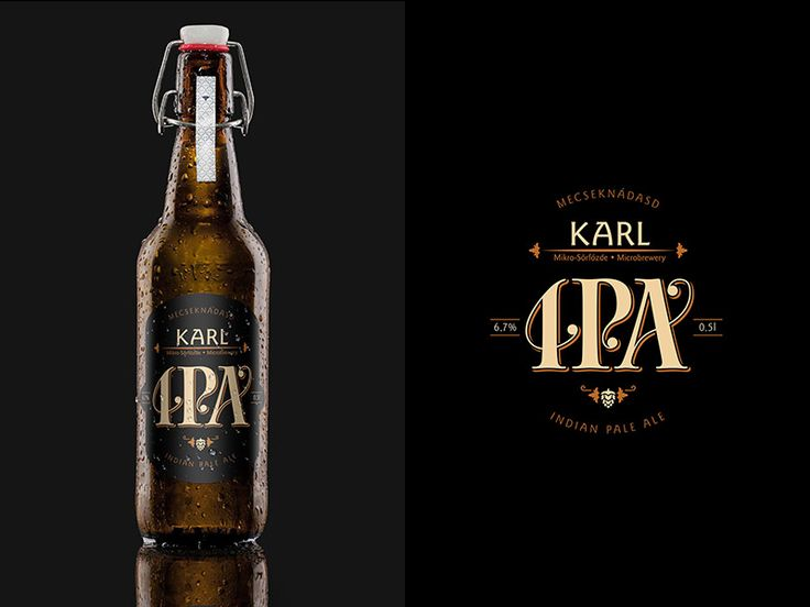 Karl handcrafted beer Indian Pale Ale label vol.1. Mecseknádasd, Hungary