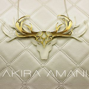 """Snow Storm stag statement necklace  The thought behind the necklace: """"Proud lips are silenced by the humble honest snow"""" never underestimate the effect you have on the world around you.  For the fearless free thinker with style as bold and beautiful as their attitude.  #necklace #statement #jewellery #animal #wearableart"""