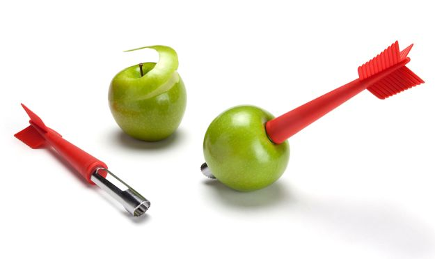 A William-Tell-worthy apple corer and peeler. | 25 Multi-Purpose Kitchen Products That Will Simplify Your Life
