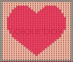 Bilderesultat for hjertemønster strikking
