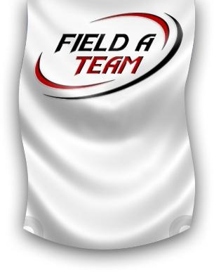 Field A Team logo on a wavy flag.