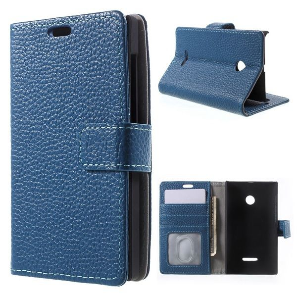 For Microsoft Lumia 532 Case Luxury Cowhide Genuine Leather Wallet Case for Microsoft Lumia 532 / 532 Dual SIM