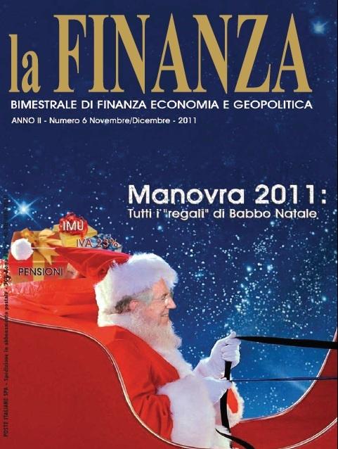 La copertina di novembre e dicembre 2011 di La Finanza