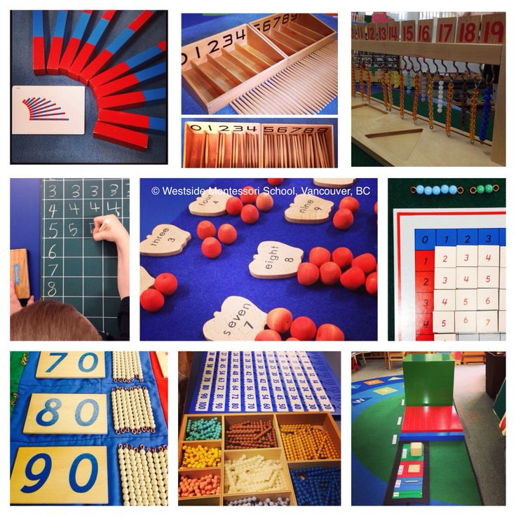 """""""The hand is the chief teacher of the child."""" Dr. Maria Montessori. Some of our WMS classrooms' Math materials we've posted this year. Such incredible learning tools, each with an inherent sequence and purpose. ✨ #montessorimath"""