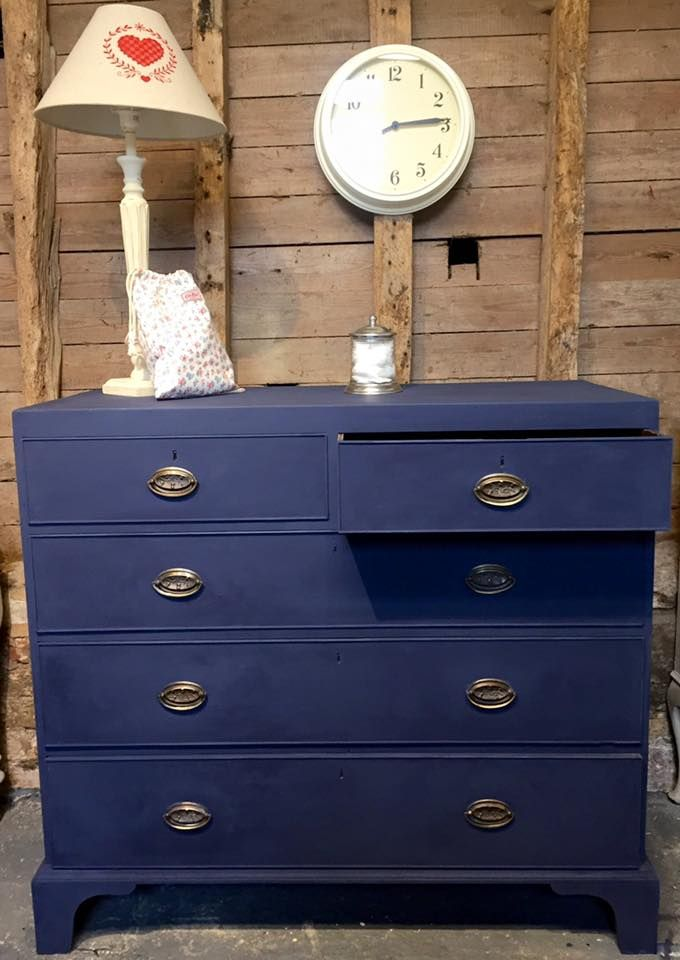 A lovely Chest of Drawers Painted in Autentico Sailor Blue, £225.00