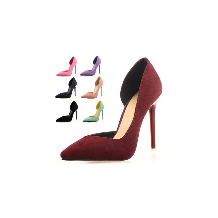 Two-Piece Pointed Toe Suede  High Heels Fashion Sexy, Factory Price, Worldwide Free Shipping!