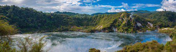 Nieuw in mijn Werk aan de Muur shop: Panorama kratermeer op het Noordereiland van Nieuw Zeeland