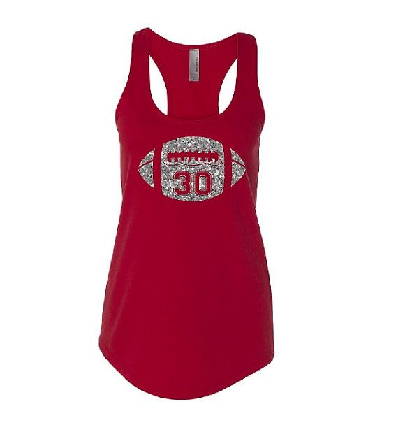 Hey, I found this really awesome Etsy listing at https://www.etsy.com/listing/234828987/football-mom-tank-top-glitter-football