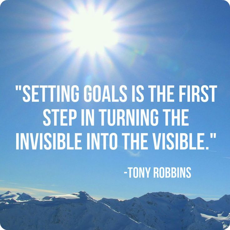 how to set goals tony robbins