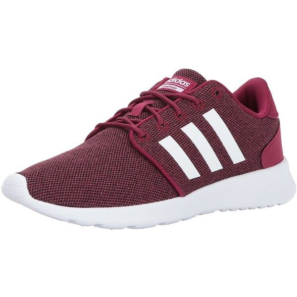 adidas Women's Cf Qt Racer Running Shoes ($42) ❤ liked on Polyvore featuring shoes, athletic shoes, adidas, adidas footwear, athletic running shoes, wide fit shoes and wide width shoes