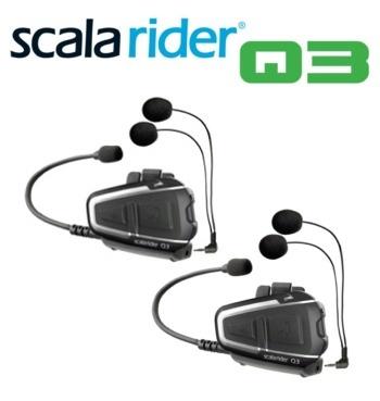Cardo Scala Rider Q3 TeamSet Rijder naar Passengier Intercom Communicatie en Entertainment Systeem -  SCALA RIDER Q3 - 'Het ultieme motor naar motor communicatie en entertainment systeem' De scala rider Q3 Multiset omvat twee vooraf gekoppelde Q3 units in een voordeel verpakking, waarmee u direct uit de doos met elkaar kunt communiceren. Ook alle accessoires zijn dus dubbel uitgevoerd.