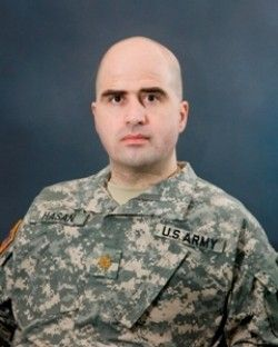 Fort Hood (military post in Texas) shooter Nidal Malik Hasan, Army officer, was 39; on Nov. 5, 2009 killed 13 and wounded 32