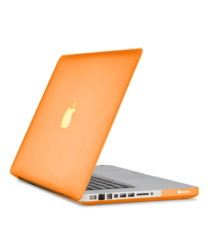 Matte Hard Rubberised Case For Macbook Pro Retina 13.3 Inch-top And Bottom Case - See Thru Orange