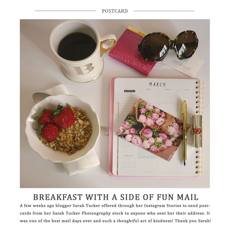 Five Little Things - Breakfast with a side of fun mail