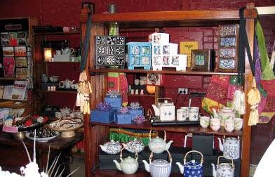 Atisha buddhist shop, has the most amazing tea pots.