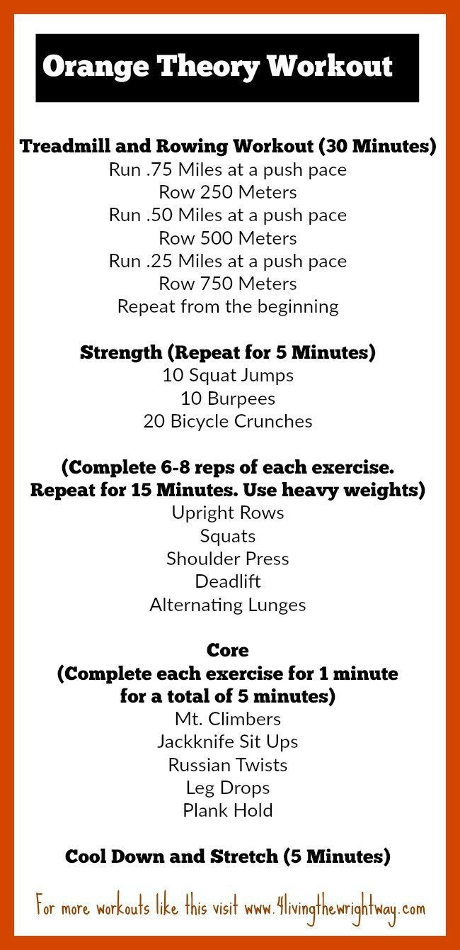 Wednesday Workout: Orange Theory Inspired
