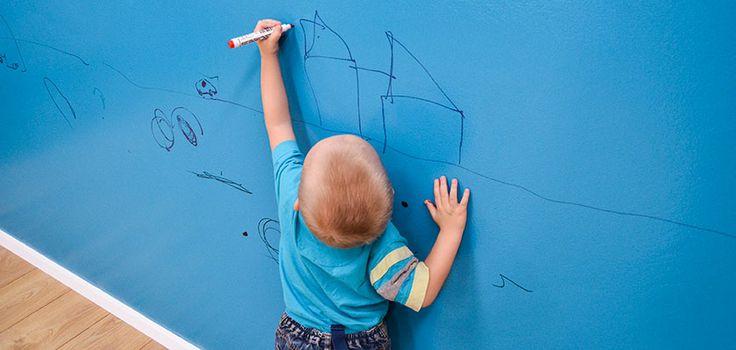 Chytrá zeď se používá i v dětských pokojích.  ---- Smart Wall Paint is used also in kids rooms. www.chytrazed.cz