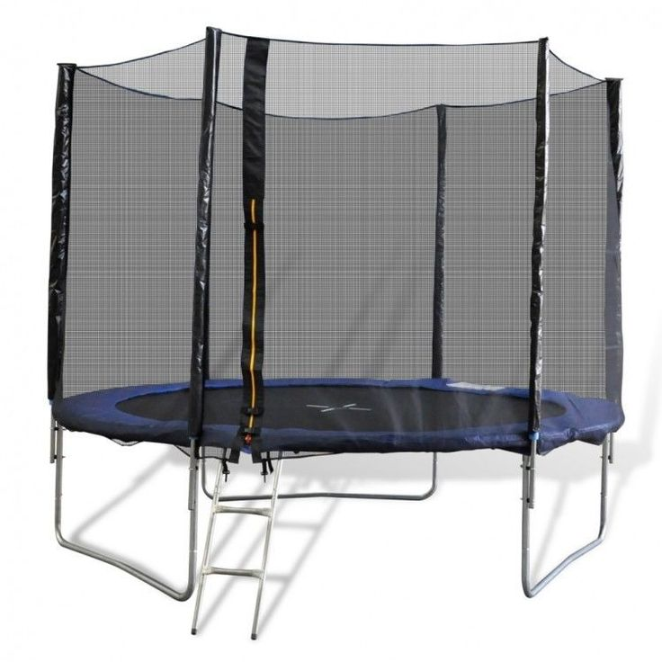 10Ft Outdoor Play Trampoline Safety Net Rain Cover Legs Ladder Jumping Toy Game