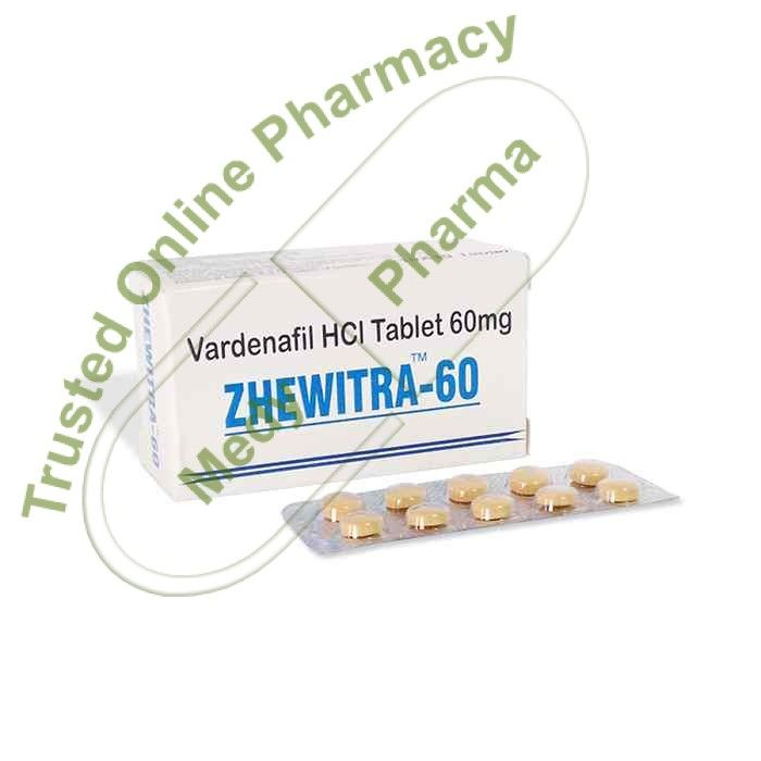 Buy Zhewitra 60 mg Zhewitra 60 Mg is recommended for erectile dysfunction and impotency in males. It is helpful when there is a failure of maintaining an erection for the entire sexual act or if there is no erection at all. It is a potent drug and should not be taken more than the prescription. It will act only in the presence of sexual stimulation.